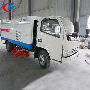 DONGFENG 4*2 120hp Euro3 2000L Water 5000L Garbage Tank Urban Road Sweep Truck