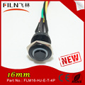 16mm LED short wire soldering power metal push button switch