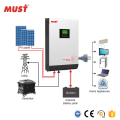 MUST 5kw hybrid solar inverter 5000W must hybrid inverter for solar system home