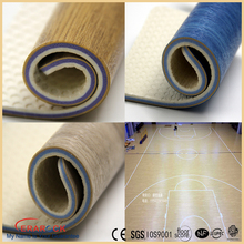 factory sale pvc sports vinyl laminated sports flooring rolls flexible pvc floor for gym court
