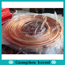 0.41mm thickness Cheap coil price for 9.52mm(3/8) air conditioner copper pancake coil tube 15m/roll(50ft)