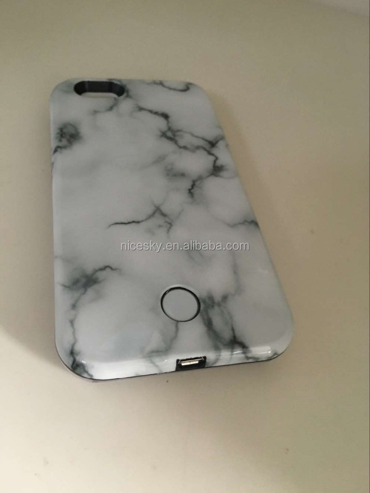 New Hot Smooth Emulate Marble Led Phone Hard Back Cover Coque Shell For iPhone 6 6S Hot Brand Phone Case For iPhone 6Plus 6SPlus