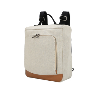 guangzhou vegan leather big business jute zipper backpack canvas back pack for laptop duffel bag computer bagpack for man