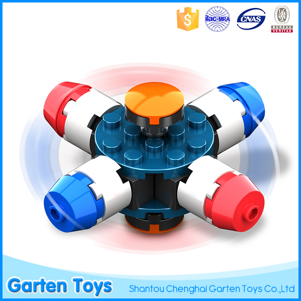 New product building brick toys fidget spinner with high quality