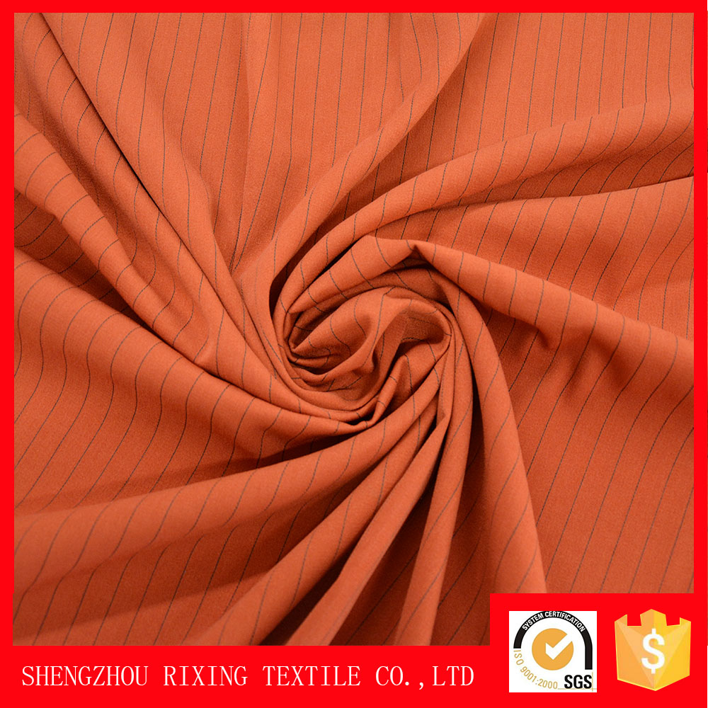Factory wholesale woven crepe rayon two way spandex 86 polyester 14 spandex fabric