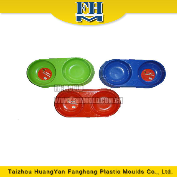 two grooves plastic injection feeding bowl mold
