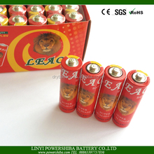 Professional Factory Supply R6 Size AA 1.5V Carbon Zinc Battery