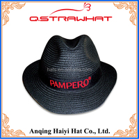 High quality HYSH34 black with red band fedora hat wholesales price