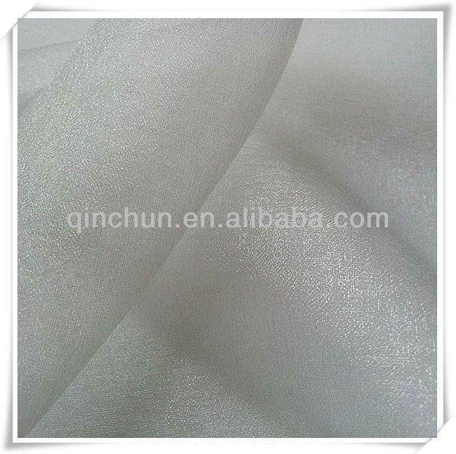 100% nylon 30D shimmer organza fabric for wedding dress, fashionable dress, curtain, gift ribbon, decoration, upholstery