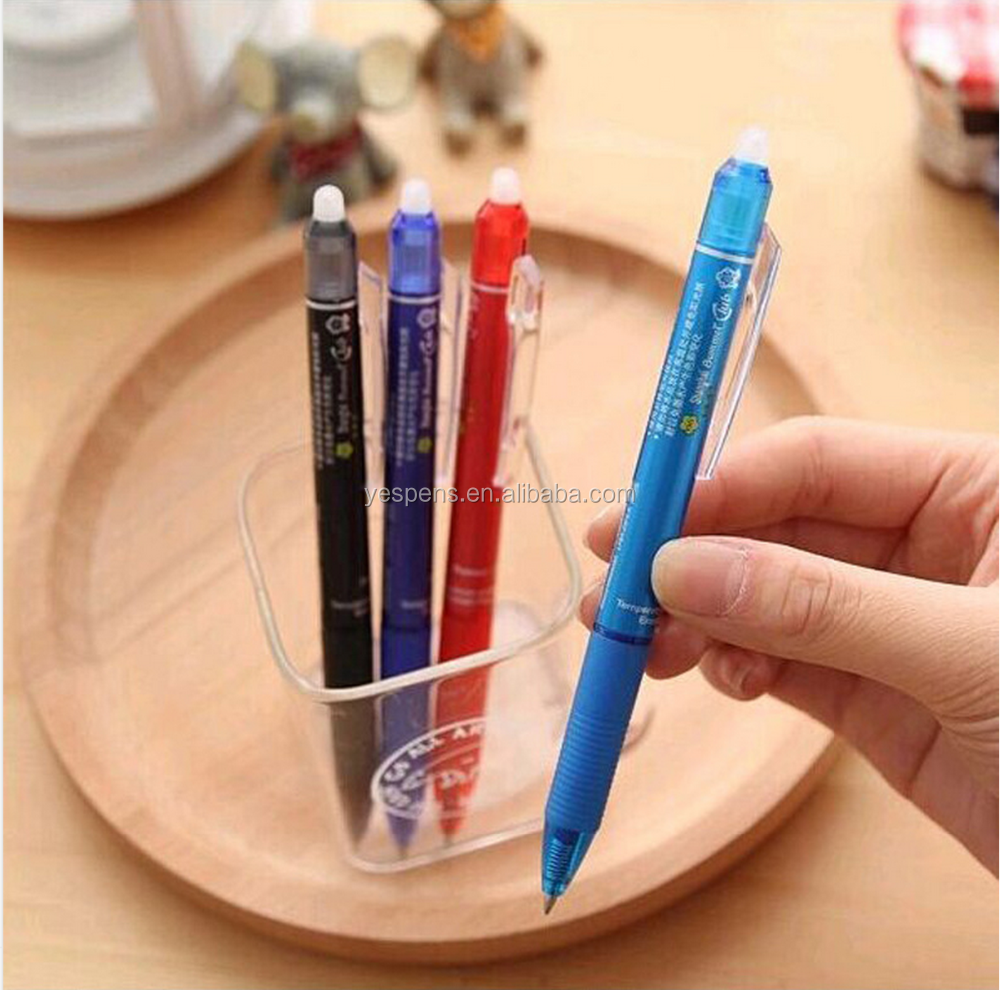 gel ink frixion erasable pen with erasers
