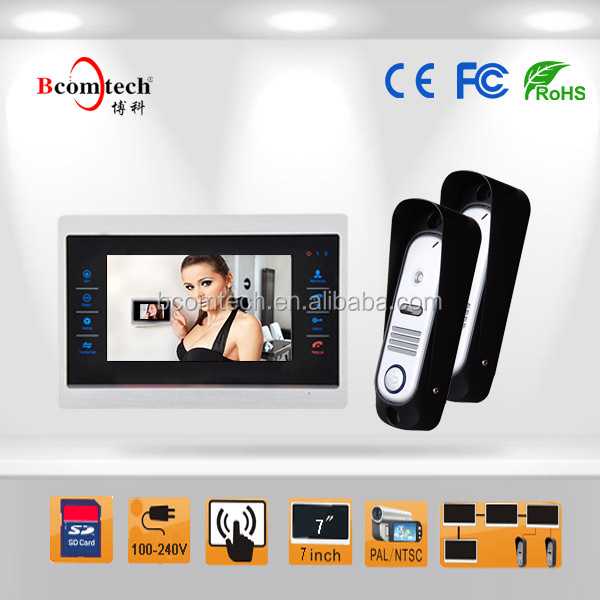 Bcomtech 2015 best selling 7 inch video door phone kit for home security