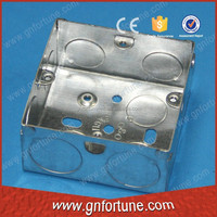 single gang metal junction box ip66 for electric wire