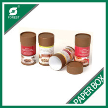 CYLINDER CARDBOARD PACKAGING BOX FOR NUTS/SNACKS/COFFEE BEAN/TEA