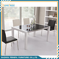 HTDT-10 Modern style dining room furniture marble dining table and chair