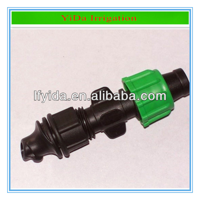 Irrigation drip tape fittings