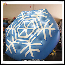 Christmas New Product Inflatable Snowflake Helium Balloon Christmas Decoration Advertising Promotional Balloon On Sale