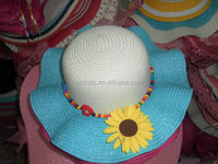 New style durable children's fashion pieced straw hats