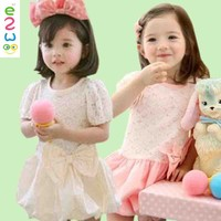 New Arrival Funky Lace Baby Girls Kids Party Wear Dresses