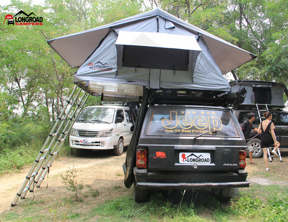 outdoors luxury safari Pritical SUV Car Camping Soft Roof Top Tent