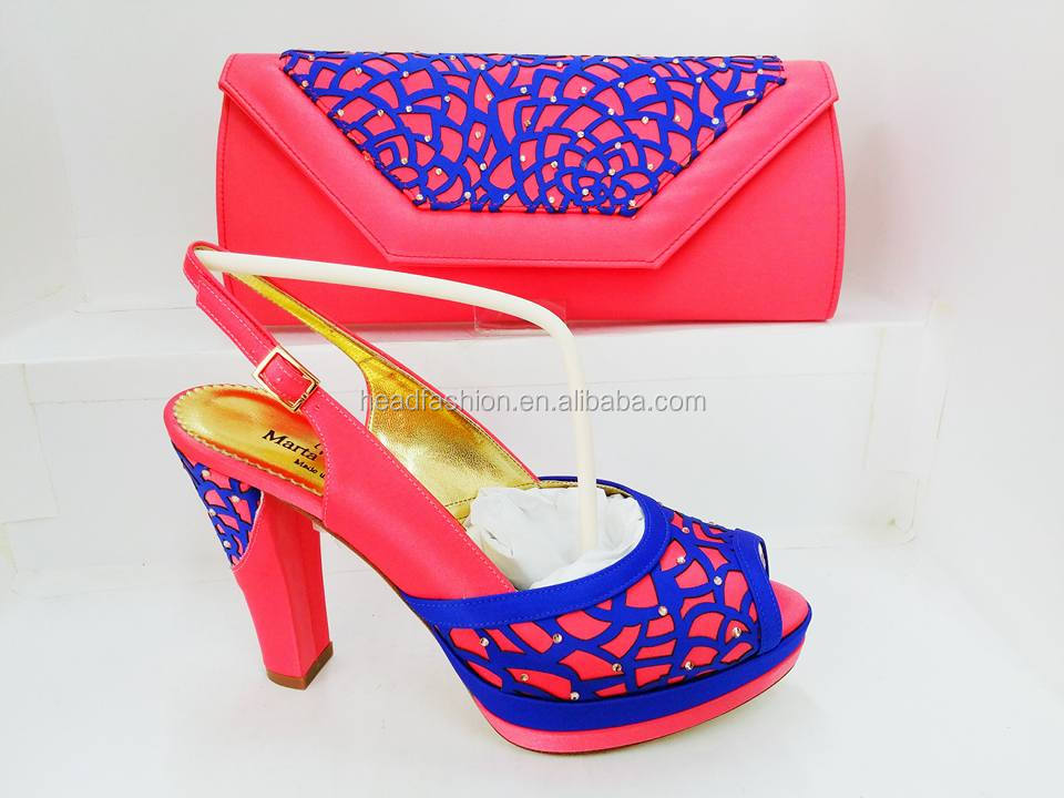 leather italian shoes and bag set african women purses hand bags matching sandals in summer