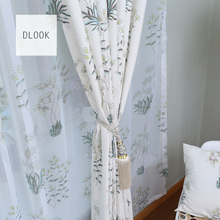 Multicolor design hot 100 polyester printed design fabric curtain for door