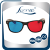 Cheap plastic red and blue 3D glasses