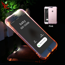 Hot selling cell phone protective cover bling glitter pink light up phone case for iphone 5 5s 6 6s 7 8 plus case