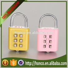 Hot selling Luggage button combination lock padlock code lock