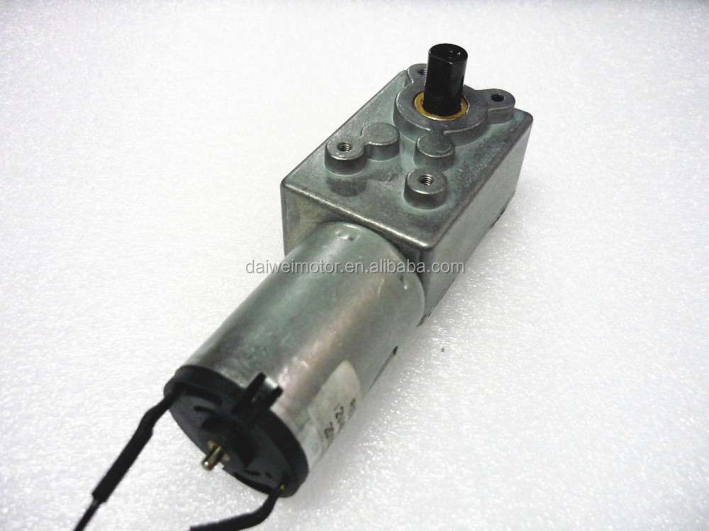 12v 24v High Torque Low Rpm Mini Dc Worm Gear Motor Buy