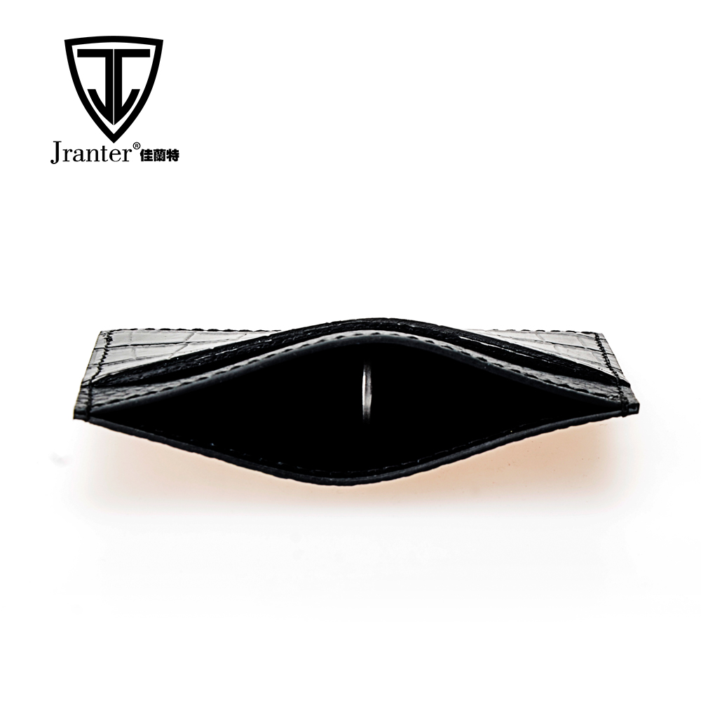 Embossed Crocodile Christmas Card Holder, Gift Card Holder/ ATM Card Holder, Sim Card Holder Leather Business Card Holder