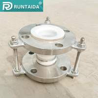 Industrial stainless steel expansion bellows compensator with ptfe