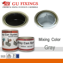 High strength non-shrinkage grey powder epoxy grouting material adhesive
