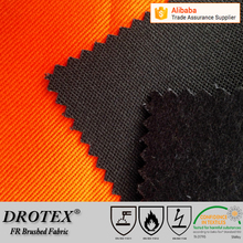winter season high heat resistance flame retardant cotton brushed fabric for welding work wear