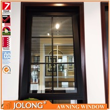China Top Supplier Jolong Double Toughened Glass 6+12A+6mm Aluminum Awning Window
