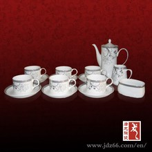 Silver plated coffee set tea set made in Jingdezhen