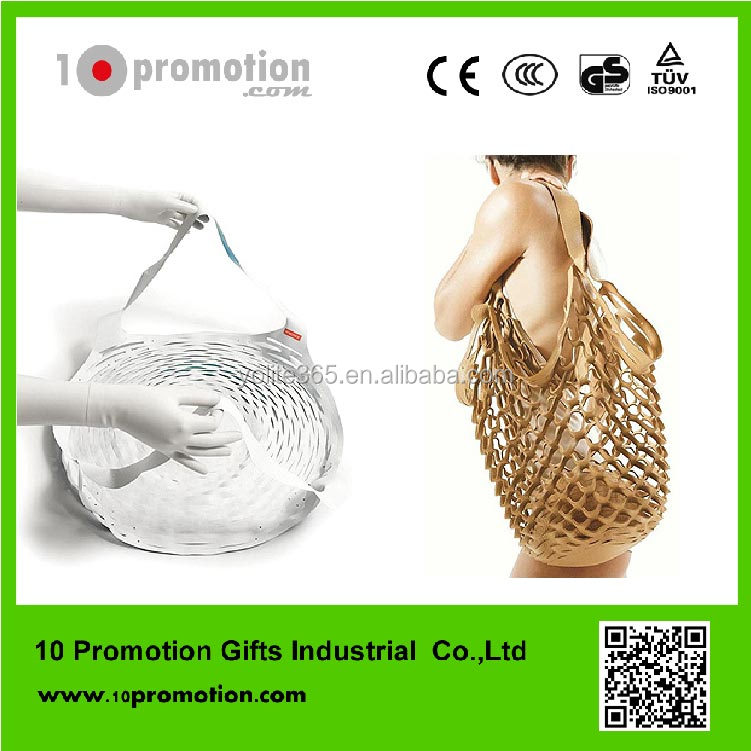 magic paper bag stretch mesh bag new product for shopping