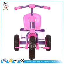 New design child tricycle metal frame child tricycle with big basket