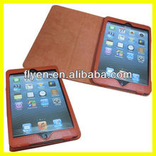 Folio Leather Case for mini iPad Corner Protection Smart Case Stand With Wake up Sleep Function Manufacturer Wholesale