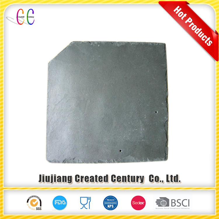 Natural black slate roof tile in special-shaped slate roof