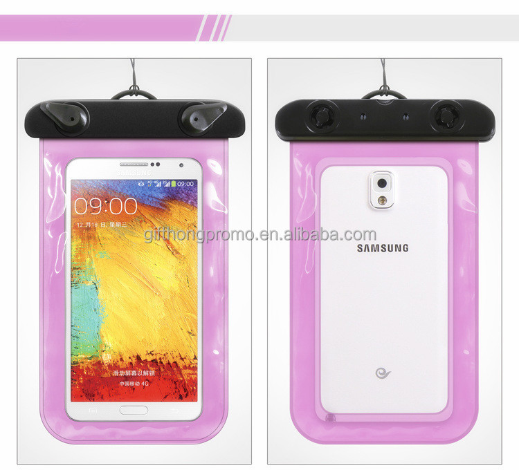 Best-seller 100% seal customized pvc phone waterproof case bag for cell phone