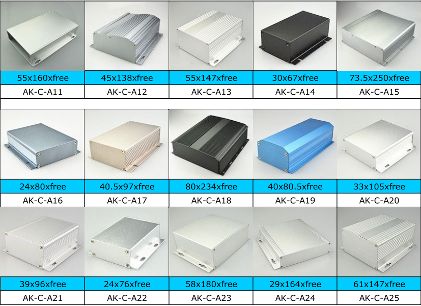 Good quality anodizing aluminum extrusion box for electronics BOX
