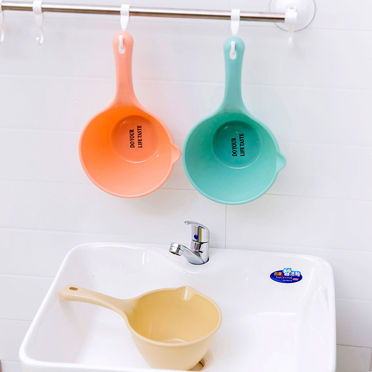 Colorful plastic bailer water scoop
