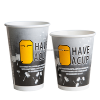High quality cheap custom logo printed disposable coffee paper cup