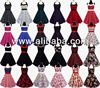 Rockabilly 50s Burlesque Corset Petticoat Gothic Retro Punk Emo Pin Up Vintage Party Swing Dress