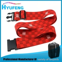 Custom logo printing luggage bag belt