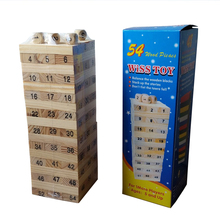 Children promotion gift play toy 56pcs wiss toy wooden blocks