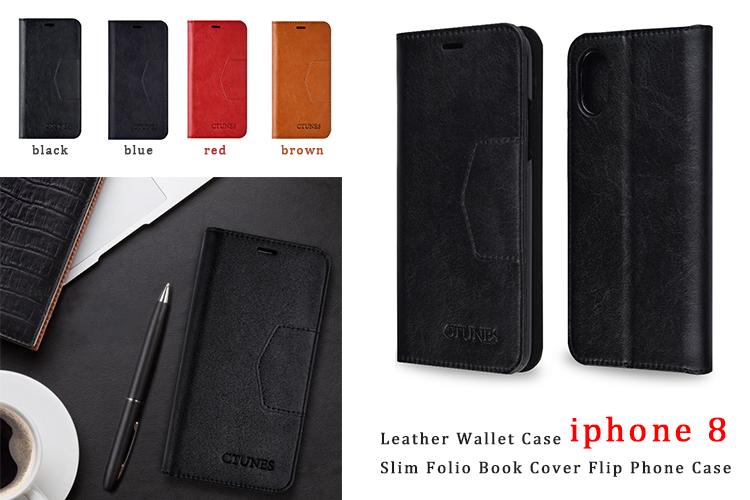 C&T Carbon Fiber Leather Case for iphone 6 Flip Cover Mobile Phone Case for iPhone 6 6s