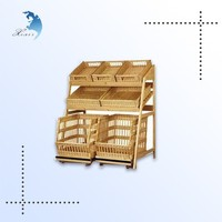 hot sale gold stamping natural color basswood keychain display rack