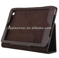 TOP selling pu leather smart stand book style case for ipad mini