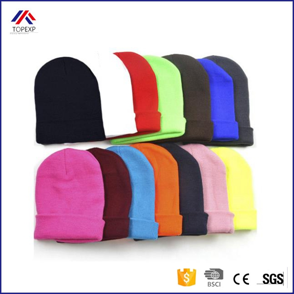 New 2016 Fashion Knitted Neon Women Beanie Girls Autumn Casual Warm Winter Hats